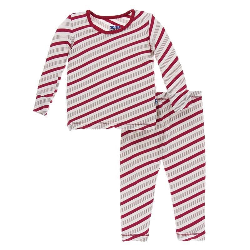 Kickee Pants Candy Cane Stripe Pajamas