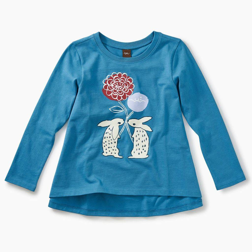 Tea Collection Floral Rabbits Top