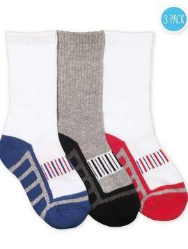 Jefferies Socks Sporty Half Cushion Crew Sock (3 pk)
