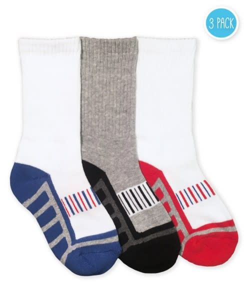 Jefferies Socks Sporty Half Cushion Crew Sock (3 pk)