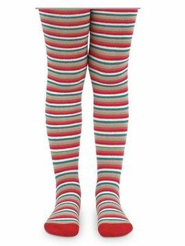 Jefferies Socks Holiday Stripe Tights
