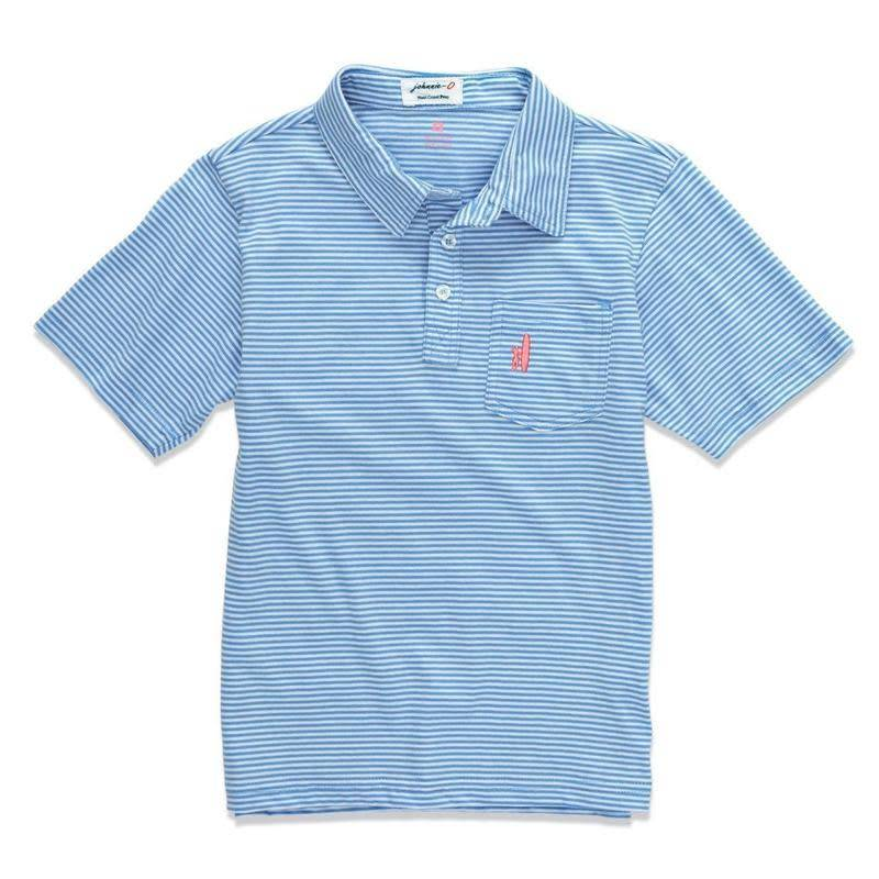 Johnnie O Vista Blue Stripe Jack Polo