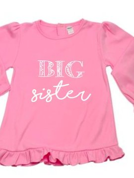 Little Hoot Big Sister Tee