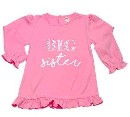 Little Hoot Big Sister Tee