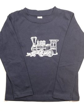 Little Hoot Train Navy Long Sleeve 12-18m