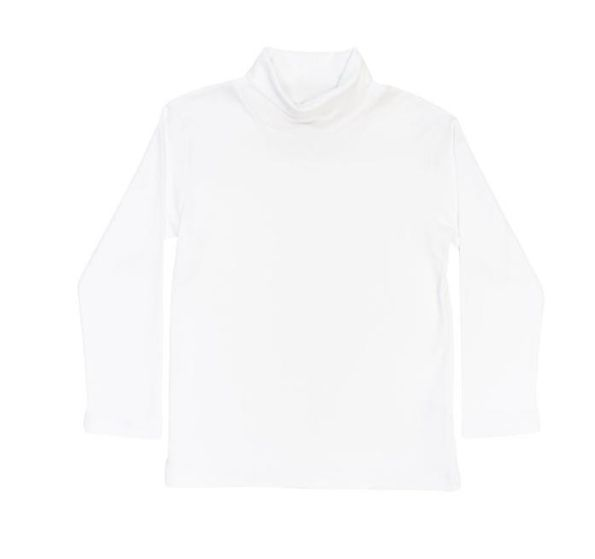 Bailey Boys White Unisex Turtleneck