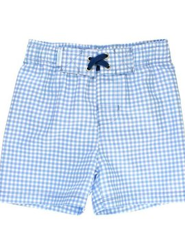 Ruffle Butts Gingham Swim Trunks