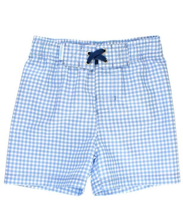 Ruffle Butts Gingham Swim Trunks