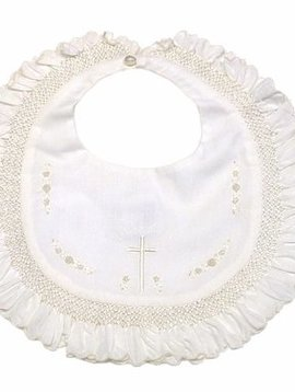 Sarah Louise Ruffled Christening Bib