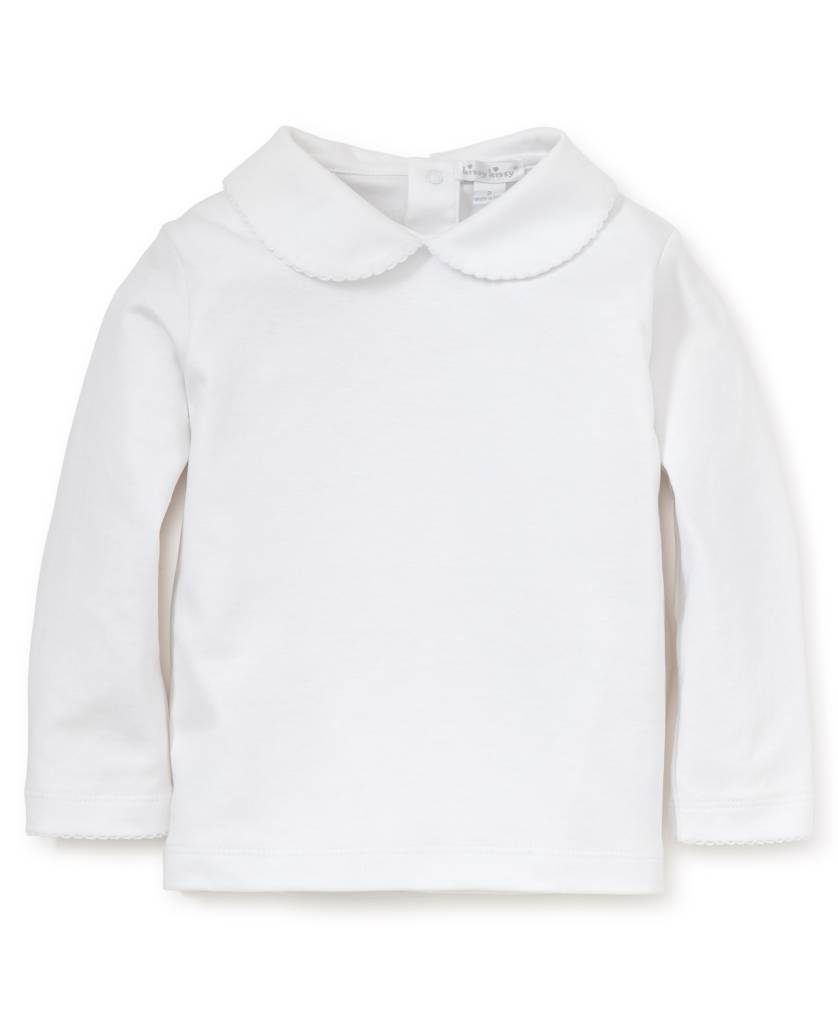 Kissy Kissy Long Sleeve Toddler Blouse with Collar