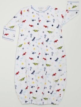Kissy Kissy Aviators Print Convertible Gown Preemie