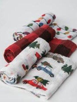 Little Unicorn Holiday Haul Cotton Muslin Swaddle 3 Pack