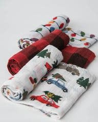 Little Unicorn Holiday Haul Cotton Muslin Swaddle 3 Pack