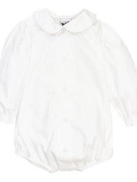Bailey Boys Girls Long Sleeve Piped Blouse with Snap