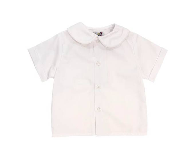 Bailey Boys Basics Boys Short Sleeve Piped Shirt