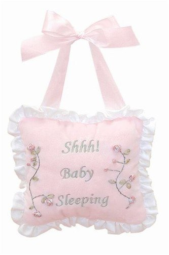 Bearington Collection Shhh Baby Sleeping Pillow