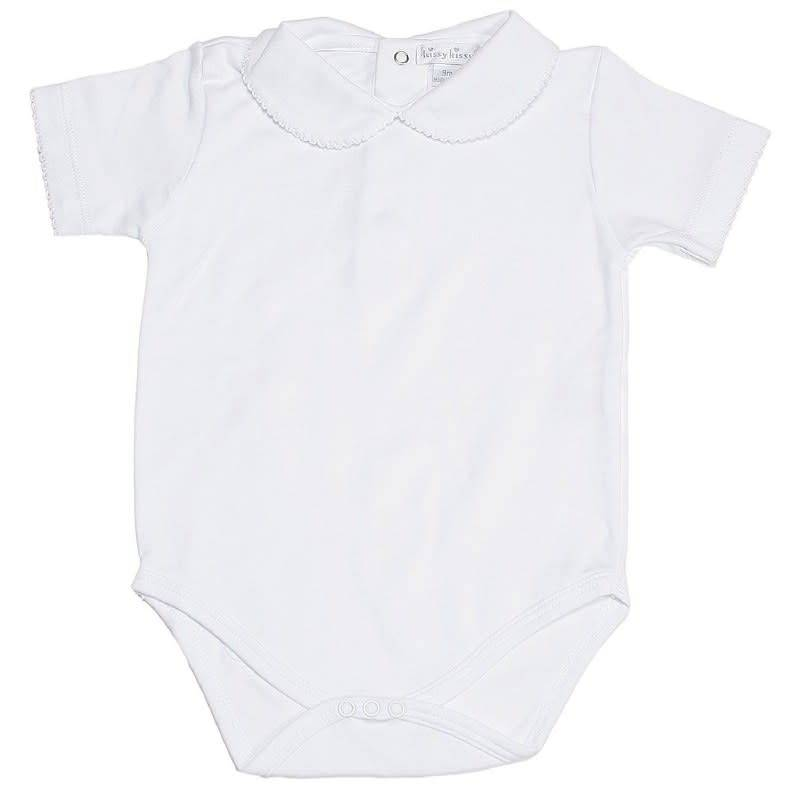 Kissy Kissy Short Sleeve Bodysuit with Bebe Collar