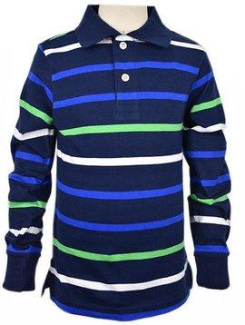 ELI America Navy Stripe Polo