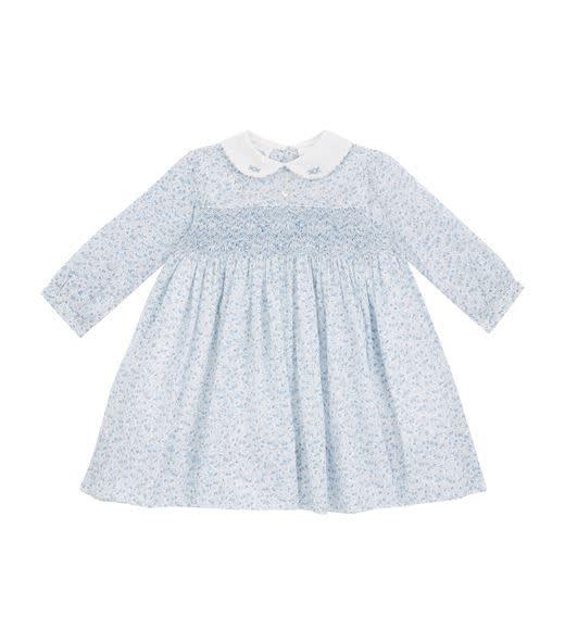 Sarah Louise Blue Liberty Print Dress