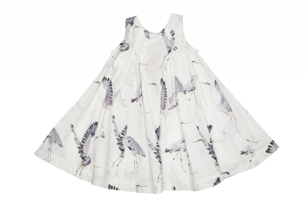 Pink Chicken Antique White Herons Agnes Dress