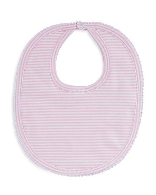 Kissy Kissy Pink Simple Stripes Bib