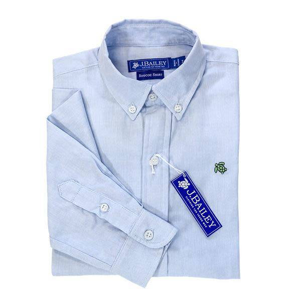 J. Bailey Blue Oxford Button Down