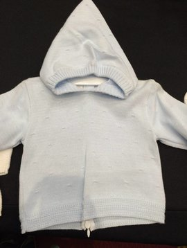 Petit Bebe Back Zip Baby Sweater