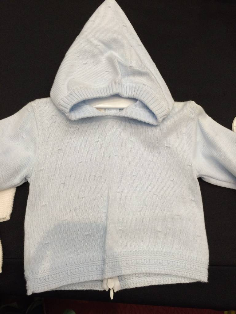 Petit Bebe Back Zip Baby Sweater