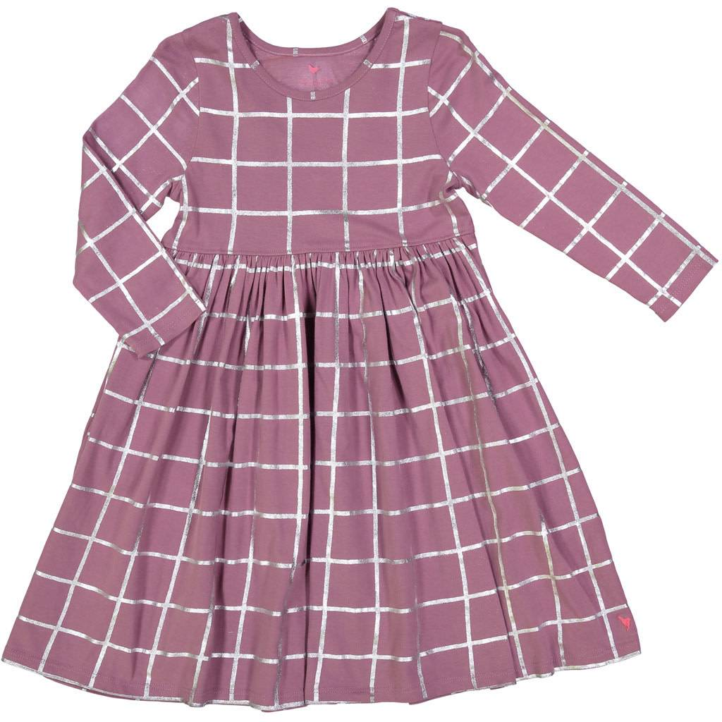 Pink Chicken Grape Tattersall Steph Dress