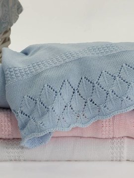 Sarah Louise Cotton Shawl Blanket