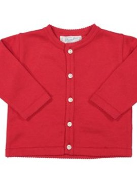 Feltman Brothers Classic Knit Cardigan Red