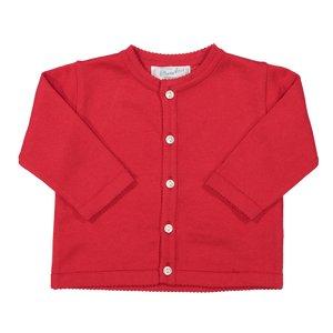 Feltman Brothers Red Classic Knit Cardigan