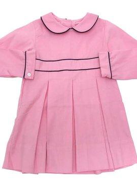 Lullaby Set Pink & Navy Corduroy Dress