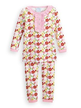 Bella Bliss Marigold Floral Ruffled Pajamas