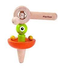 plan toys Spaceship Spinning top