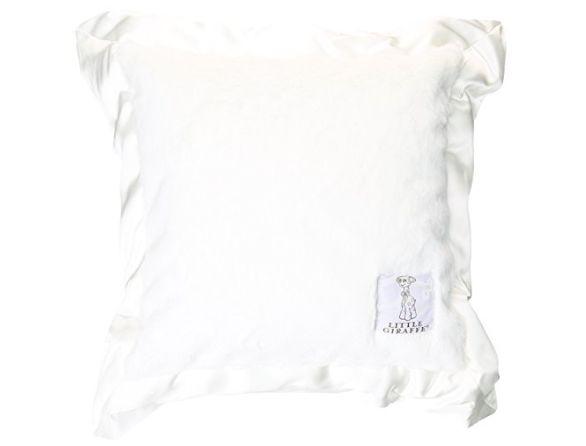 Little Giraffe White Luxe Solid Pillow