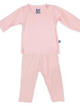 Kickee Pants Lotus Long Sleeve Pajama Set
