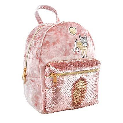 Style.Lab Velvet Pocket Magic Sequin Backpack