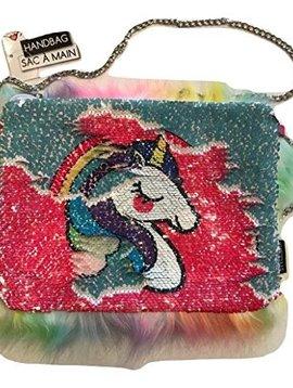 Style.Lab Faux Fur & Magic Sequin Rainbow Reveal Bag