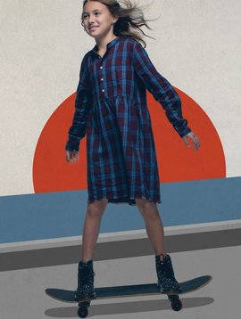 Joe's Jeans Navy Plaid Woven Dress