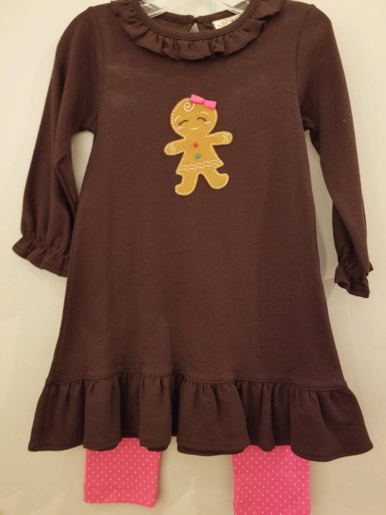 Baby Luigi Gingerbread Dress Set