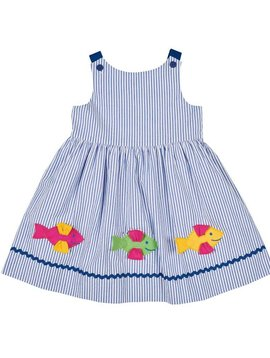 Florence Eiseman Seersucker Sundress with Fish Applique