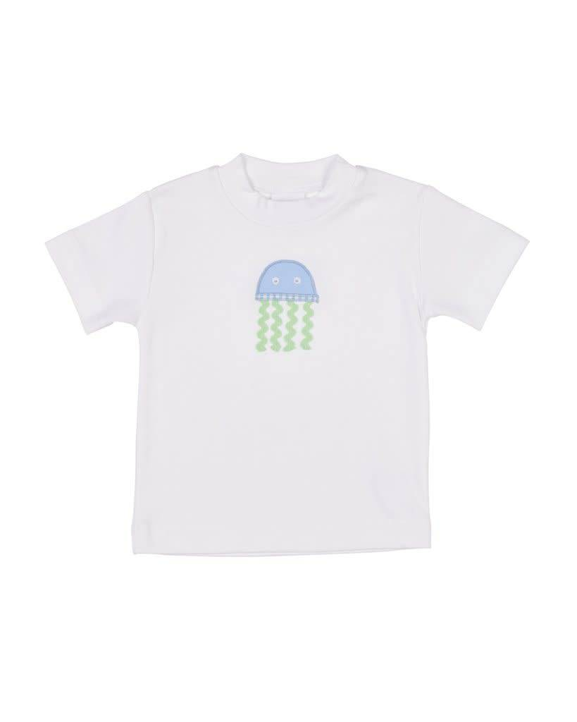 Florence Eiseman Rib Crew Neck with Jellyfish