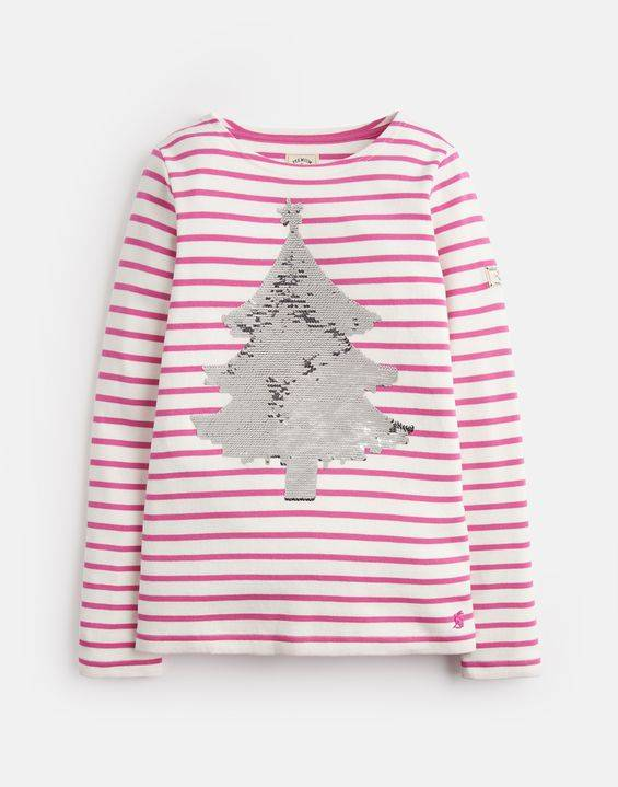 Joules Sequin Tree Harbour Top