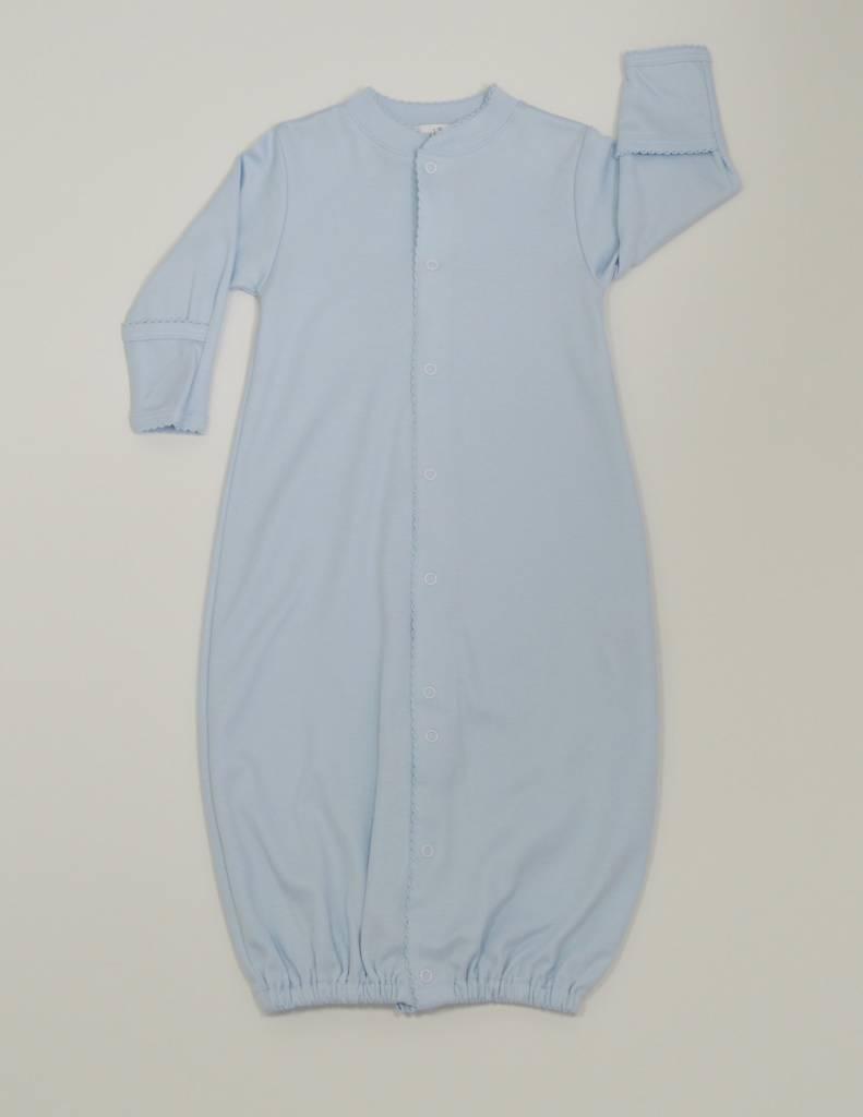 Kissy Kissy Blue Gown with Blue Trim Preemie