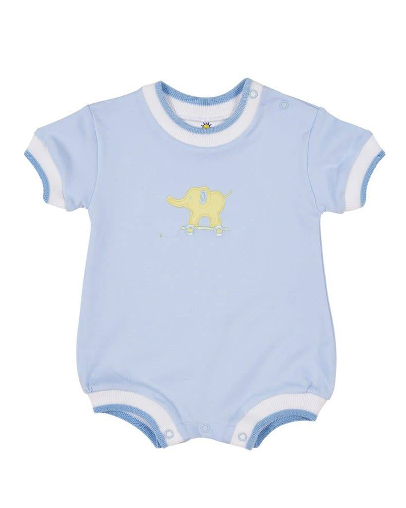 Florence Eiseman Interlock Romper with Elephant