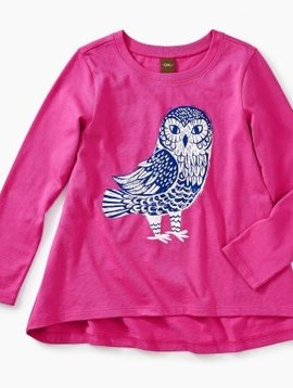 Tea Collection Wise Owl Twirl Tee