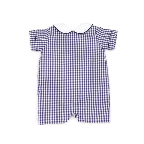 Lullaby Set Navy Gingham Romper