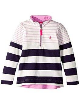 Joules Navy Stripe Half Zip Sweatshirt