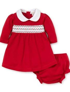 Kissy Kissy Red Smocked Dress Set